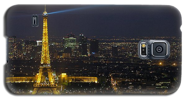 Eiffel Tower At Night Galaxy S5 Case by Sebastian Musial