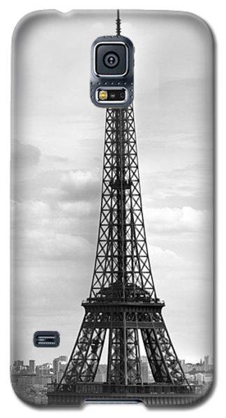 Eiffel Tower Black And White Galaxy S5 Case by Melanie Viola