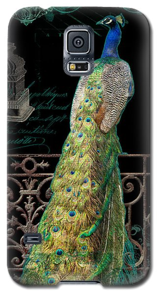 Elegant Peacock Iron Fence W Vintage Scrolls 4 Galaxy S5 Case by Audrey Jeanne Roberts