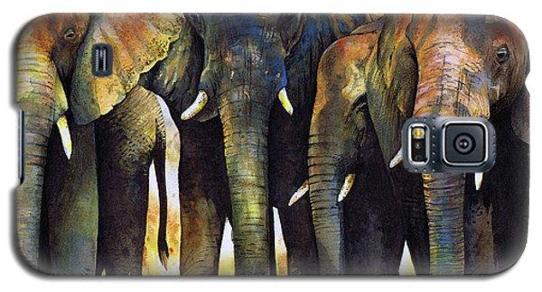 Animals Galaxy S5 Cases - Elephant Herd Galaxy S5 Case by Paul Dene Marlor