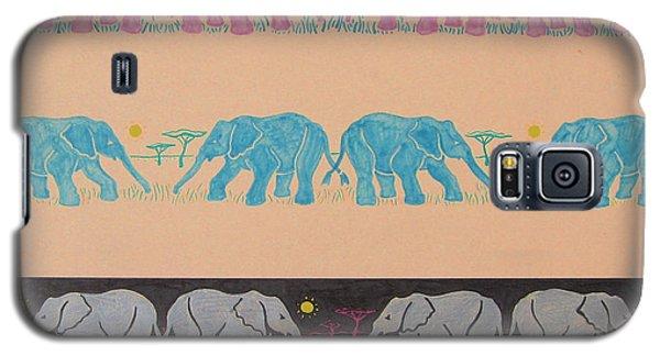 Elephant Pattern Galaxy S5 Case by John Keaton