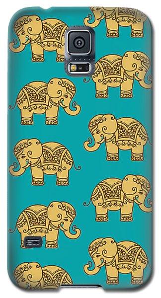 Elephant Pattern Galaxy S5 Case by Krishna Kharidehal