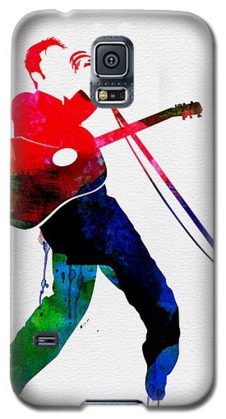 Elvis Watercolor Galaxy S5 Case by Naxart Studio
