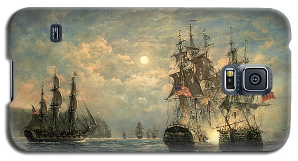 Seascape Galaxy S5 Cases - Engagement Between the Bonhomme Richard and the  Serapis off Flamborough Head Galaxy S5 Case by Richard Willis