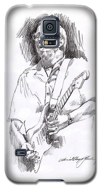 Eric Clapton Blue Galaxy S5 Case by David Lloyd Glover