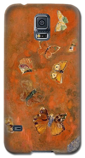 Evocation Of Butterflies Galaxy S5 Case by Odilon Redon
