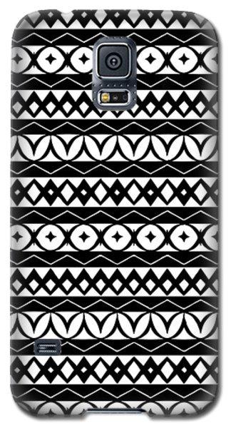 Fair Isle Black And White Galaxy S5 Case by Rachel Follett