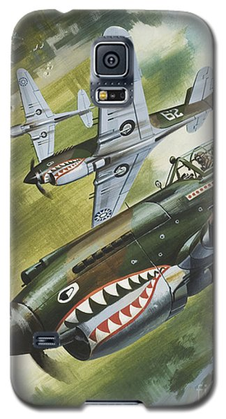 Famous Aircraft And Their Pilots Galaxy S5 Case by Wilf Hardy