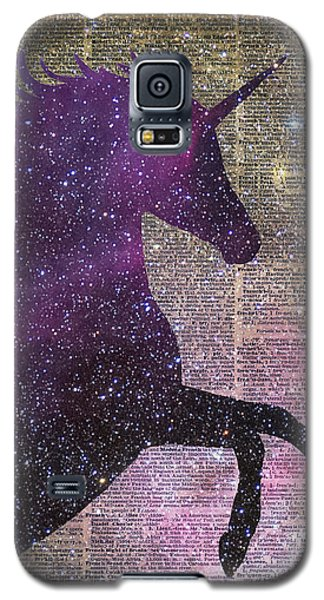 Fantasy Unicorn In The Space Galaxy S5 Case by Jacob Kuch