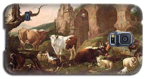 Farm Animals In A Landscape Galaxy S5 Case by Johann Heinrich Roos