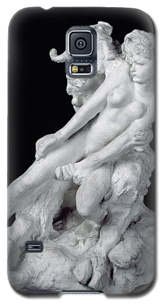 Sculptures Galaxy S5 Cases - Faun and Nymph Galaxy S5 Case by Auguste Rodin