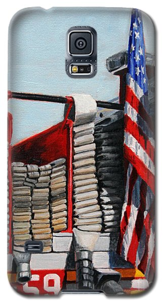Fdny Engine 59 American Flag Galaxy S5 Case by Paul Walsh