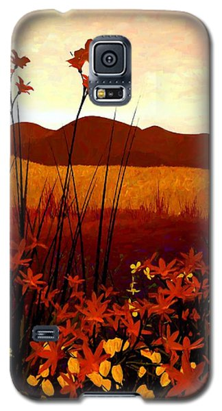 Landscapes Galaxy S5 Cases - Field of Flowers Galaxy S5 Case by Cynthia Decker