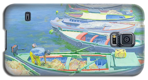 Fishing Boats Galaxy S5 Case by William Ireland