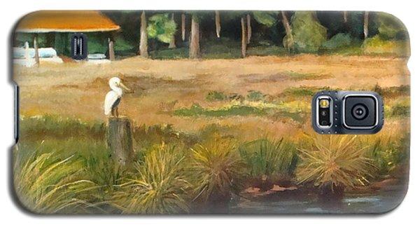 Green Galaxy S5 Cases - Fishing Buddy 2 Galaxy S5 Case by Leslie Dobbins