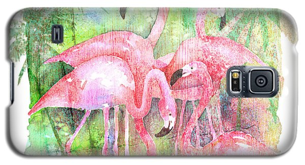Flamingo Five Galaxy S5 Case by Arline Wagner