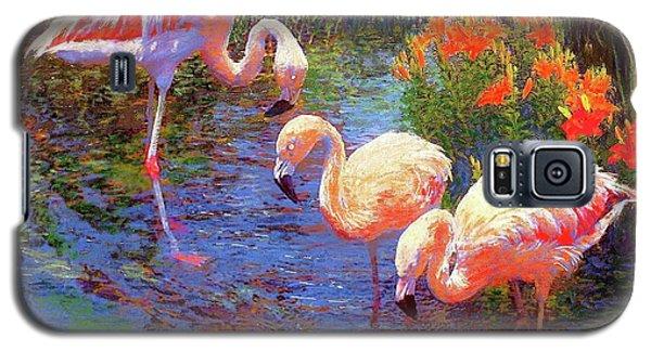 Flamingos, Tangerine Dream Galaxy S5 Case by Jane Small