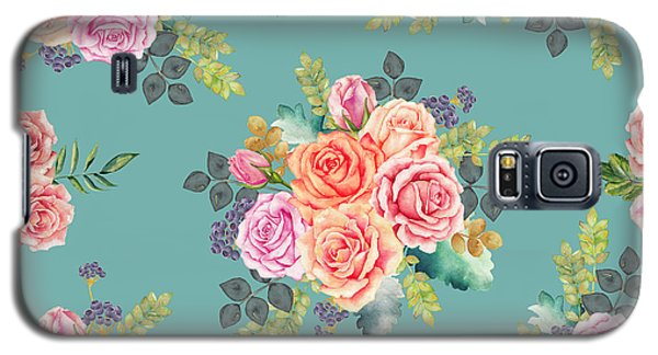 Floral Pattern 2 Galaxy S5 Case by Stanley Wong