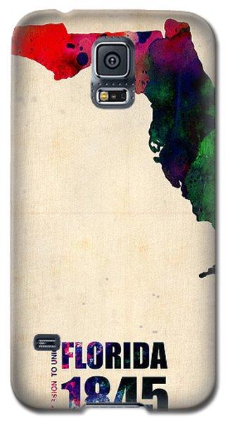 Florida Watercolor Map Galaxy S5 Case by Naxart Studio