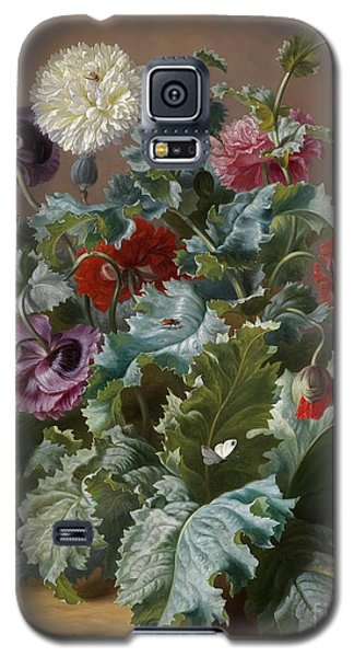 Flower Piece With Poppies And Butterflies Galaxy S5 Case by Celestial Images