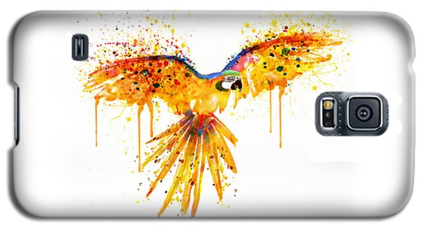 Flying Parrot Watercolor Galaxy S5 Case by Marian Voicu
