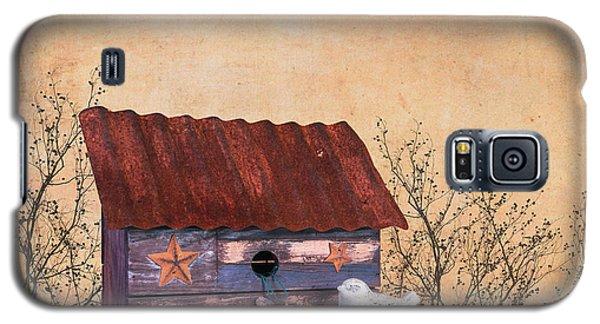 Folk Art Birdhouse Still Life Galaxy S5 Case by Tom Mc Nemar