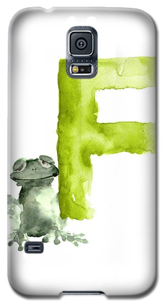 Frog Watercolor Alphabet Painting Galaxy S5 Case by Joanna Szmerdt