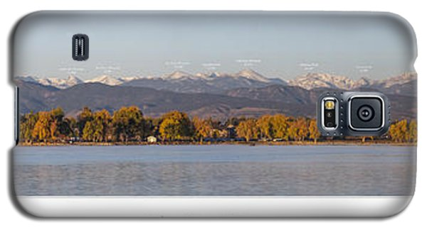 Front Range With Peak Labels Galaxy S5 Case by Aaron Spong