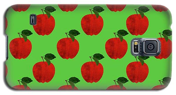Fruit 02_apple_pattern Galaxy S5 Case by Bobbi Freelance