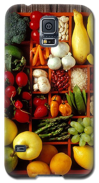 Fruits And Vegetables In Compartments Galaxy S5 Case by Garry Gay