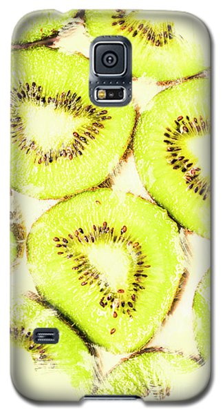 Full Frame Shot Of Fresh Kiwi Slices With Seeds Galaxy S5 Case by Jorgo Photography - Wall Art Gallery