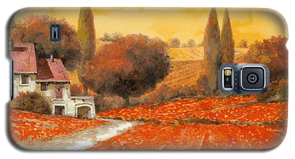 Landscapes Galaxy S5 Cases - fuoco di Toscana Galaxy S5 Case by Guido Borelli