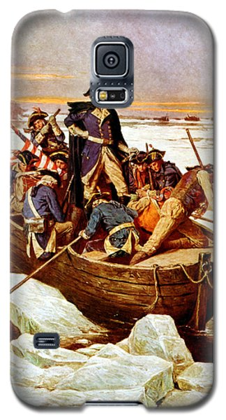 General Washington Crossing The Delaware River Galaxy S5 Case by War Is Hell Store