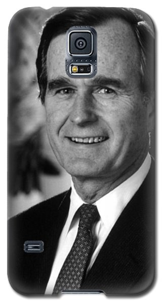 George Bush Sr Galaxy S5 Case by War Is Hell Store