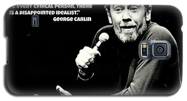 George Carlin Art  Galaxy S5 Case by Pd