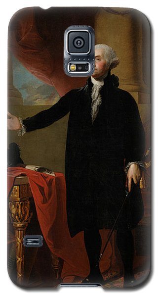 Portraits Galaxy S5 Cases - George Washington Lansdowne Portrait Galaxy S5 Case by War Is Hell Store