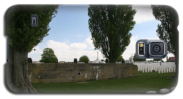 Galaxy S5 Case featuring the photograph German Bunker At Tyne Cot Cemetery by Travel Pics
