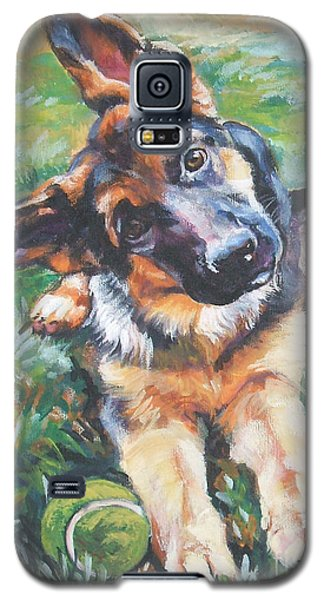 German Shepherd Pup With Ball Galaxy S5 Case by Lee Ann Shepard