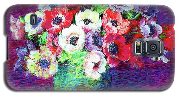 Summer Galaxy S5 Cases - Gift of Anemones Galaxy S5 Case by Jane Small