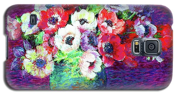 Flower Galaxy S5 Cases - Gift of Anemones Galaxy S5 Case by Jane Small