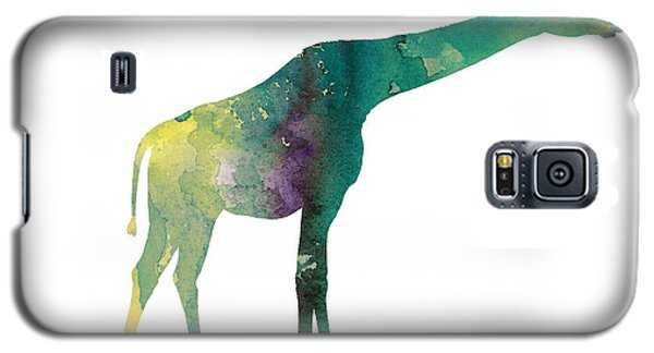 Giraffe Colorful Watercolor Painting Galaxy S5 Case by Joanna Szmerdt