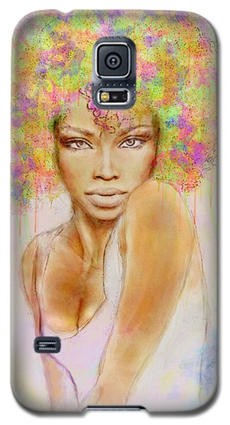 Girl With New Hair Style Galaxy S5 Case by Lilia D