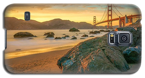 Golden Gate Sunset Galaxy S5 Case by James Udall