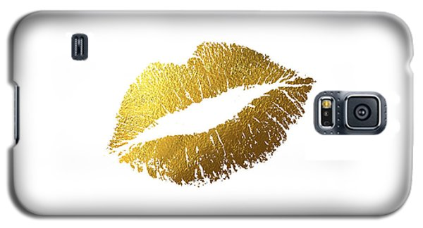 Gold Lips Galaxy S5 Case by Bekare Creative