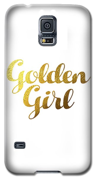Golden Girl Typography Galaxy S5 Case by BONB Creative