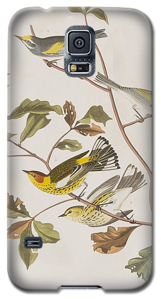 Golden Winged Warbler Or Cape May Warbler Galaxy S5 Case by John James Audubon