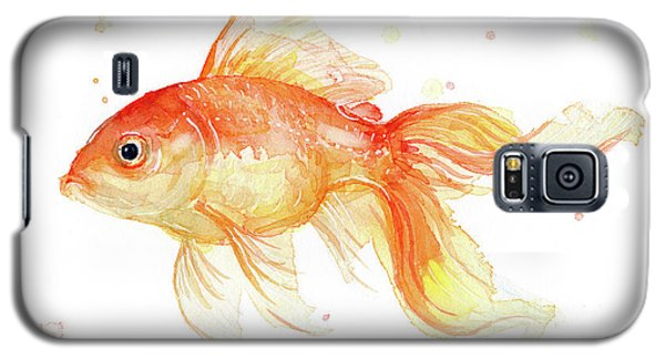 Goldfish Painting Watercolor Galaxy S5 Case by Olga Shvartsur