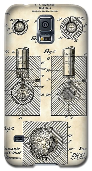 Golf Ball Patent 1902 - Vintage Galaxy S5 Case by Stephen Younts