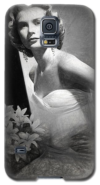 Grace Kelly Drawing Galaxy S5 Case by Quim Abella