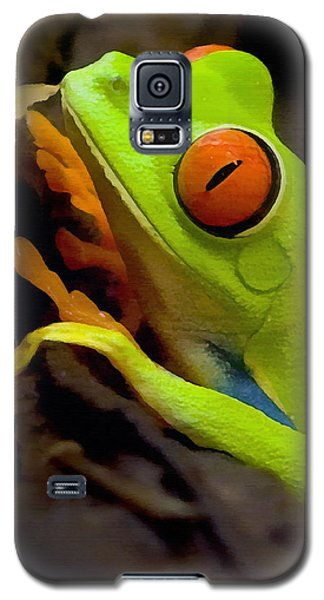 Green Tree Frog Galaxy S5 Case by Sharon Foster